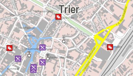 Stadtplan von Trier